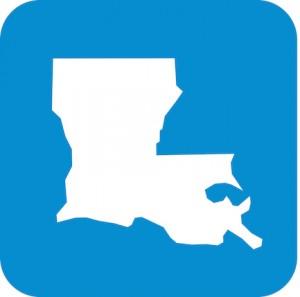 Blue Louisiana Icons