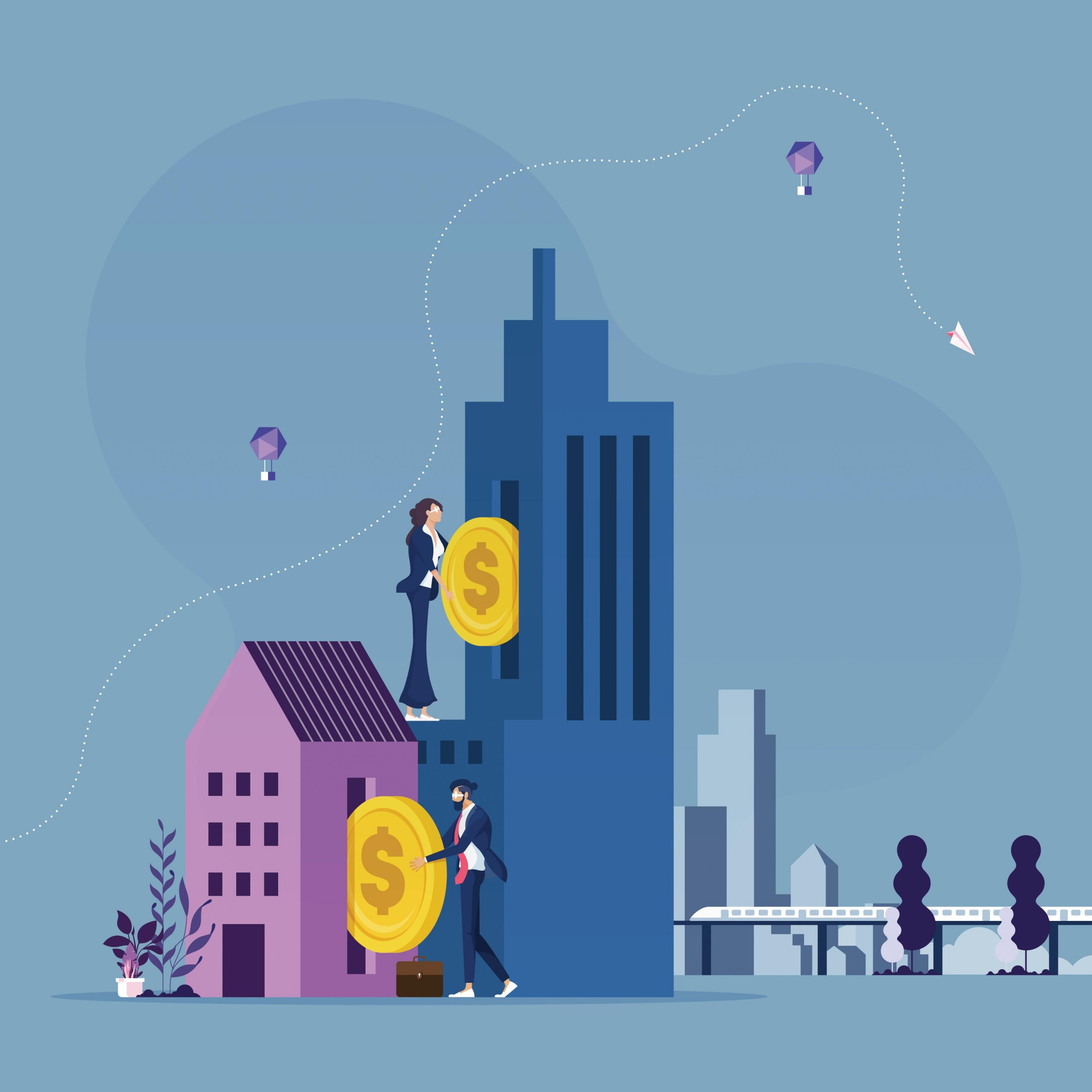 Business People Investing On Real Estate Business Concept Vector