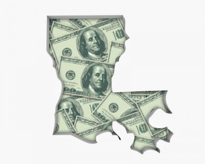 Louisiana La Money Map Cash Economy Dollars 3d Illustration